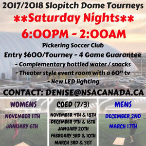 NSA Indoor Softball Tournaments in Pickering