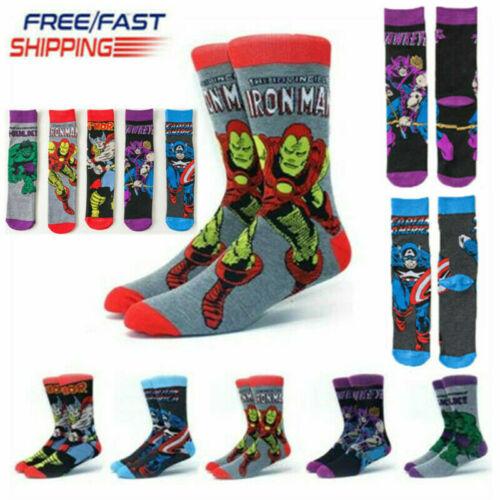 Avengers Marvel Cartoon Charakter Unisex Socken Superman Herren Damen Socken Neu