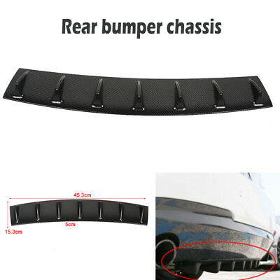 """Used, Carbon fiber Universal Shark Fin 7 Wing Lip Diffuser 33"""" x6"""" Rear Bumper Chassis for sale  Shipping to Canada"""