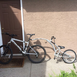 Adams Trail-a-bike in great condition - only a few uses