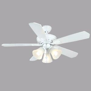 3 Light 4 blade white ceiling fan