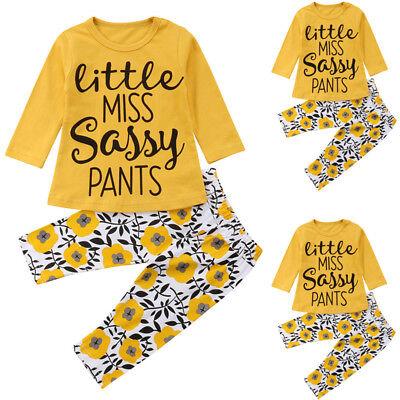 Newborn Infant Baby Girl T-Shirt Top+Floral Pants Leggings Outfit Set Clothes