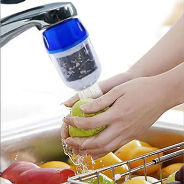 2 Coconut Carbon Water Purifier Filter Cleaner Cartridge Home Kitchen Faucet Tap