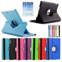 New Apple iPad 2/3/4/5/Air/Mini 2 Leather Case Cover+Free Stylus