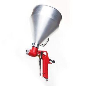 221470 Hopper Feed Exterior 1-1/2 Gallon Texture Spray Gun Aluminum Cup