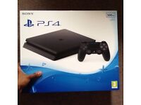 PS4 Slim 500gb black and Pro Evolution 2016 football game Playstation 4