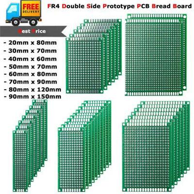 10pcs Prototype Pcb Bread Board Tinned Universal Double Side Fr4 2x8cm - 9x15cm