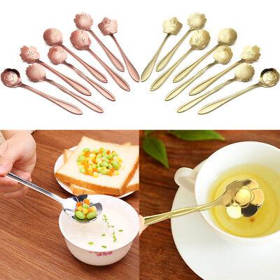 Blossom Teaspoon - 8pcs/set Stainless Steel Flower Shape Coffee Spoon Ice Cream Spoons Tea Spoon
