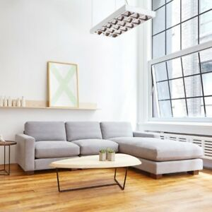 ALMOST NEW SOFA WITH CHAISE SECTIONAL COUCH CANADIAN