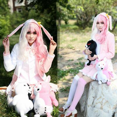 Dangan Ronpa 2 Pink/White Rabbit Monomi Cosplay Costume - White Rabbit Outfit