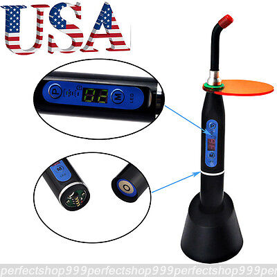 Usa Ce Dental 5w Wireless Cordless Led Curing Light Lamp 2000mw Black Cl2b