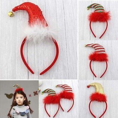 Kinder Weihnachten Weihnachten Neuheit Stirnband Hut Kostüm Haarspange Rent L7Y8 ()