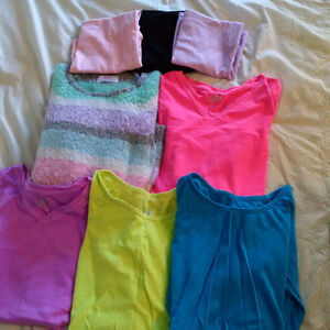 LOT OF GIRLS SIZE 14 TOPS FROM JUSTICE; 8 ITEMS IN TOTAL