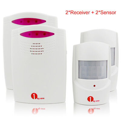 2 packs Driveway Patrol Wireless Alert Alarm System Motion Sensor Bell Chime
