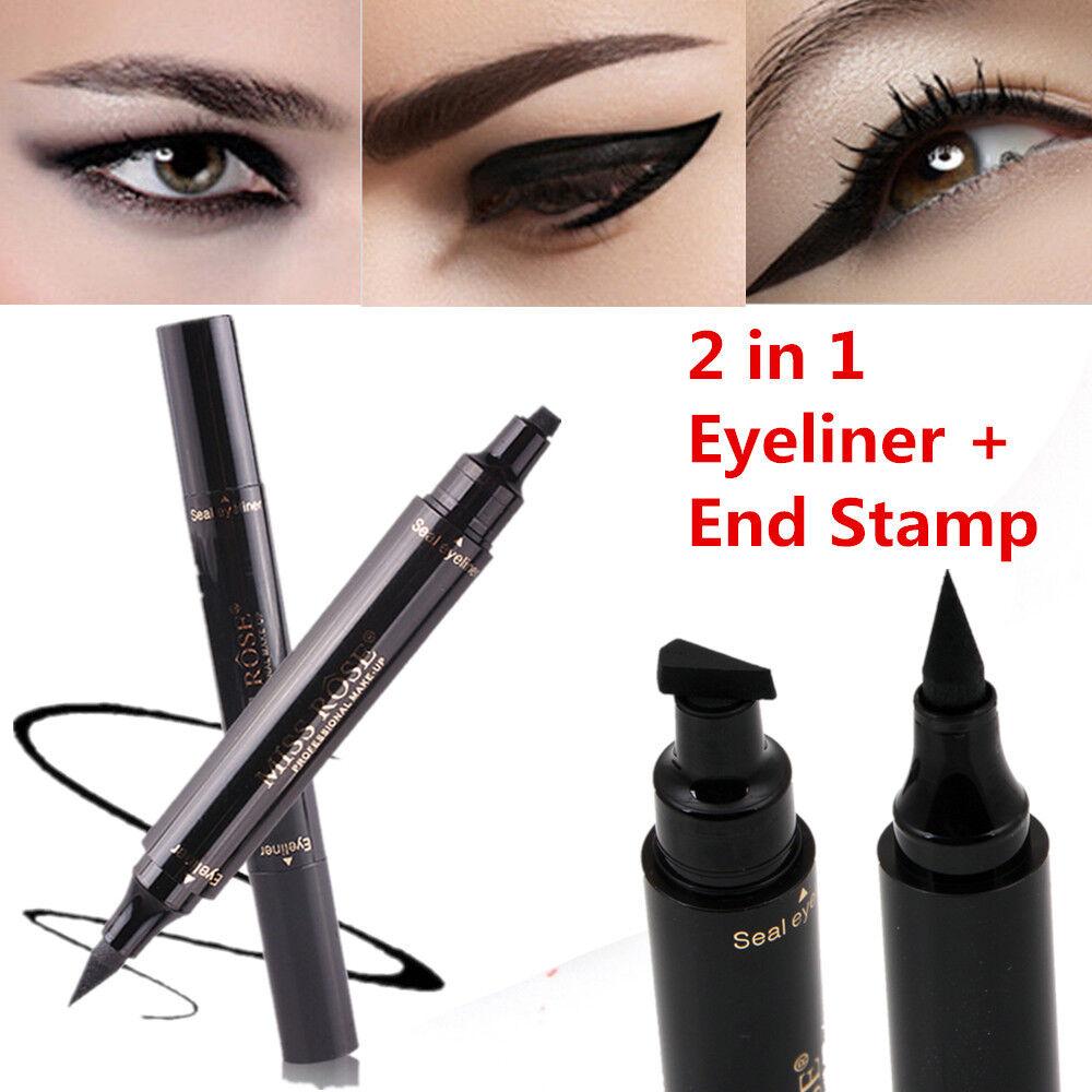 2 In 1 Style Winged Eyeliner Stamp Waterproof Makeup Eye