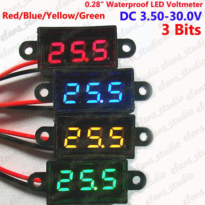 3 Digit DC 0-100V mini Volt Voltage level lithium ion battery Meter Voltmeter