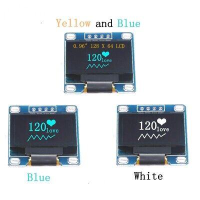0.96 I2c Iic Serial 128 X 64 Blue Oled Lcd Led Display Scree Module For Arduino