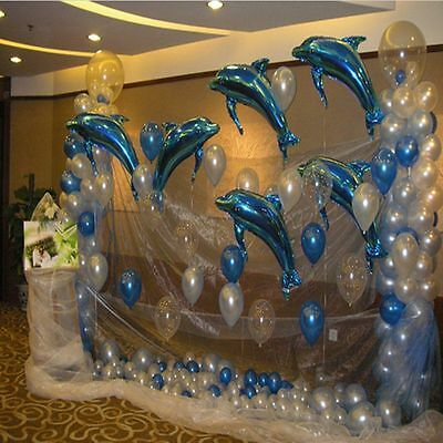 NEW! 10pcs Big Size Dolphin Foil Helium Balloon For Birthday Party Wedding Decor](Dolphin Birthday Party)