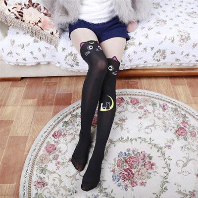 Japanese Anime Sailor Moon Cat Luna Stockings Sock Women Over Knee Socks Cosplay - Cat Knee High Socks