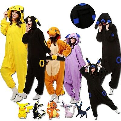 Pokemon Onesi1 Kigurumi Women Men Animal Pajamas Cosplay Costume Sleepwears - Men Animal Costumes
