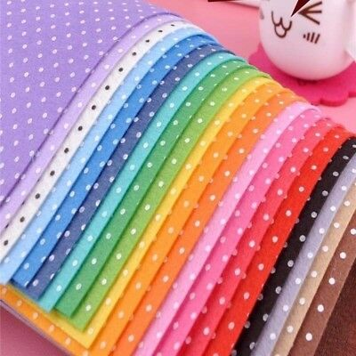 20x Polyester Polka Dot Printed Fabric Polyester Handmade Nonwoven Material DT4X