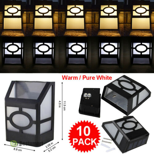 Waterproof Solar Wall LED Light Outdoor Garden Fence Landscape Yard Spot Lamp A+