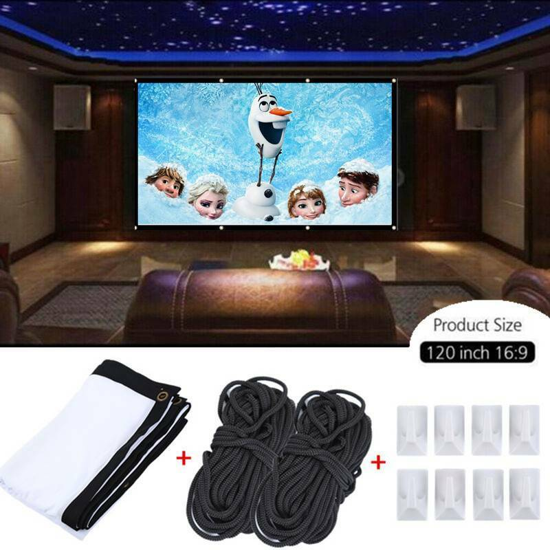 120Inch 16:9 HD TV Projector Screen Cinema Home Theatre Outd