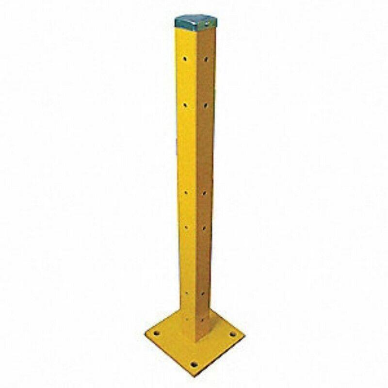 """5jey0 Guard Rail Post.  3 rail mount holes.  42"""" tall."""