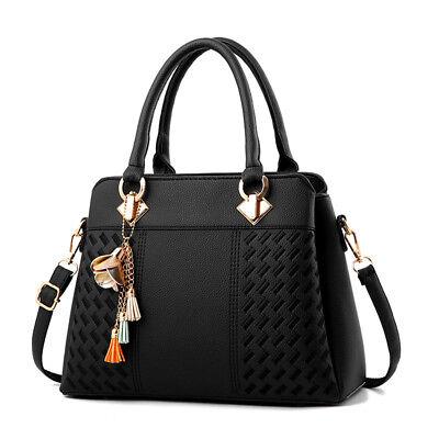Womens New Handbag Faux Leather Tote Cross Body Shoulder Bag Purse Satchel - Mint Purse