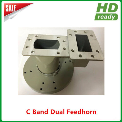 C band dual feedhorn for Horizontal and vertical signal