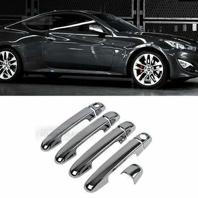 Chrome Door Catch Handle Molding Cover Garnish for HYUNDAI 2009-17 Genesis Coupe