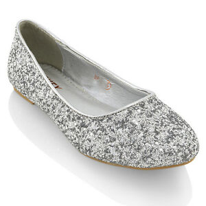 silver flat prom shoes ebay