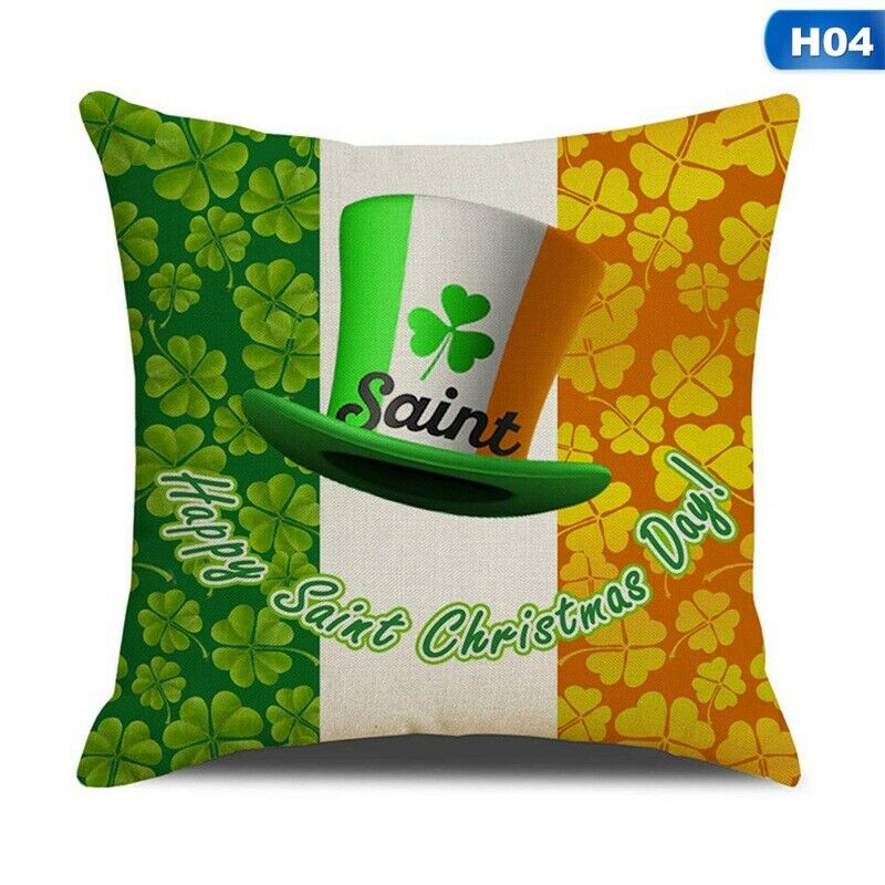 Patrick/'s Day Cotton Linen Cushion Cover Pillow Case Sofa Home Festive #US St