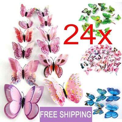 Lot 3D Butterfly Sticker Art Design Vivid Decal Wall Stickers Home Decor Room SL - Mint Room Decor