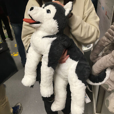 Large Soft Toy Husky Dog Plush 57 Cm Huge Cuddly Toy Fluffy Big Present Kid Gift