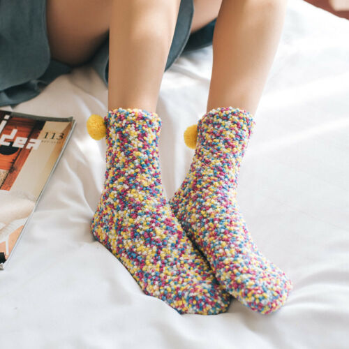 Womens Thermal Cozy Fuzzy Sherpa Fleece-lined Non-Slip Slipper Socks Christmas Clothing, Shoes & Accessories