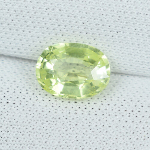 1.18 ct ULTRA RARE - LIME YELLOW /  NATURAL CHRYSO BERYL Oval - See Vdo 4888 !!