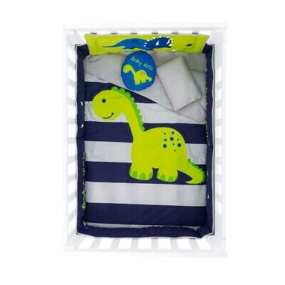 BABY BOY DINOSAUR CRIB 6 PIECE COMFORTER SET, PERFECT GIFT OR FOR YOUR OWN BABY Six Piece Crib Set