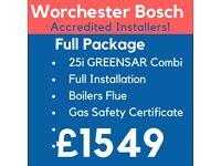 Worcester Bosch GOLD Accredited Installers/Boiler Installation,Repair&Service/Gas Safe Certificate
