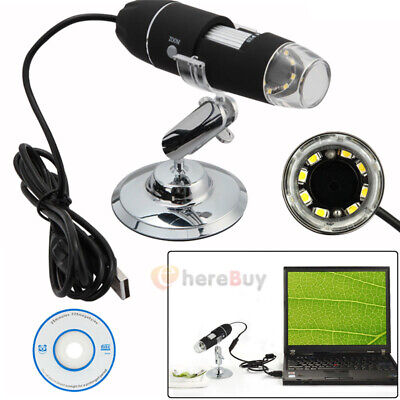 2mp 1000x 8 Led Usb Digital Microscope Endoscope Zoom Camera Magnifier Stand