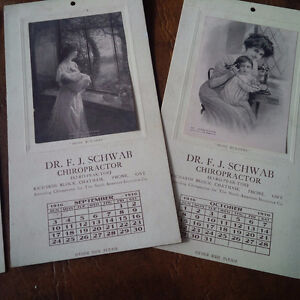 Vintage Calendar, 6 Months, 1916, Dr. F.J. Schwab, Chatham Kitchener / Waterloo Kitchener Area image 3