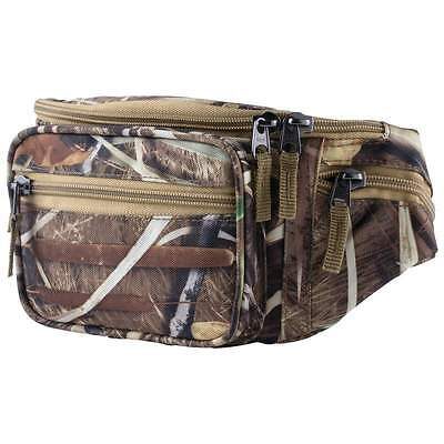 Camo Water Repellent Fanny Pack Tree Oak Camouflage Waist Bag Hunting Gear Belt