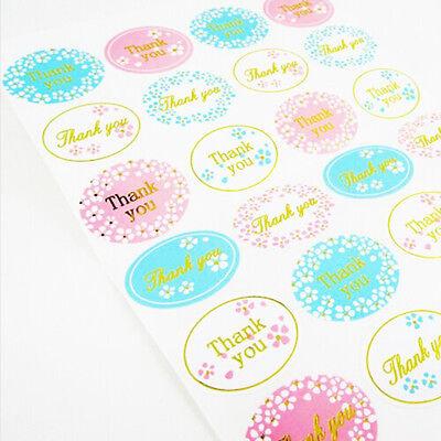 120sheet Gold Thank You Sealing Sticker Craft Round Flower Paper Envelope Label