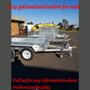 8x5 box trailer with cage galvanised trailer for sale Noble Park Greater Dandenong Preview