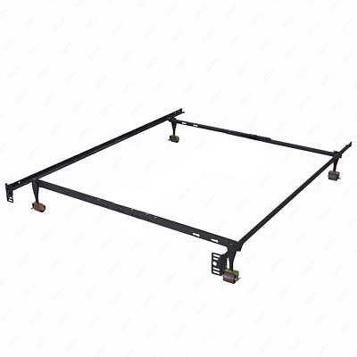 New Heavy Duty Metal Bed Frame Adjustable Queen Full Twin Size Platform T70
