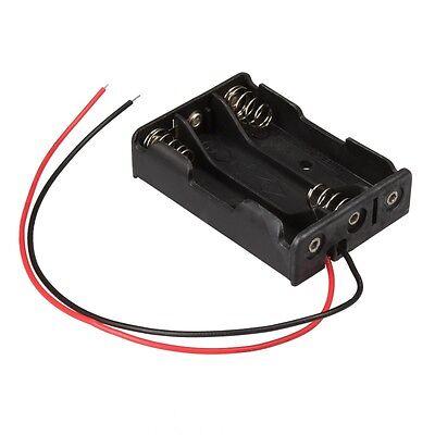 Batteriehalter mit Anschlußkabel 3x AAA / Micro Batterie Batteriefach offen