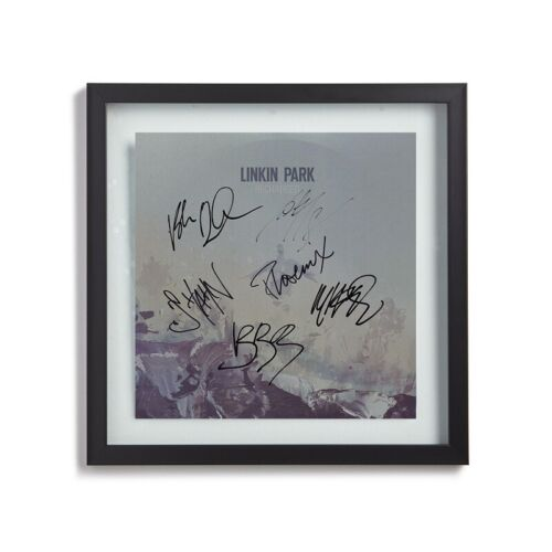 LINKIN PARK Signed By All 6 w/ Chester Bennington Recharged Album LP Cover Print