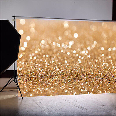 7X5FT Gold Glitter Sequin Wedding Background Backdrop Vinyl Photo Studio Props !](Wedding Photo Backdrop)