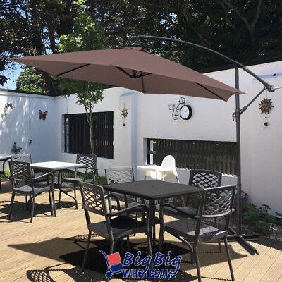 10ft outdoor patio cantilever umbrella offset cranking