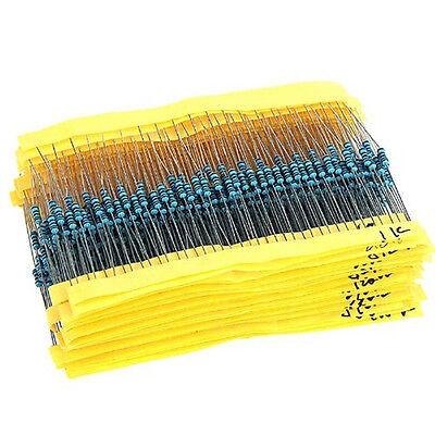 64 Values 1280pcs 1 Ohm - 10m Ohm 14w Metal Film Resistors Assortment Kit New